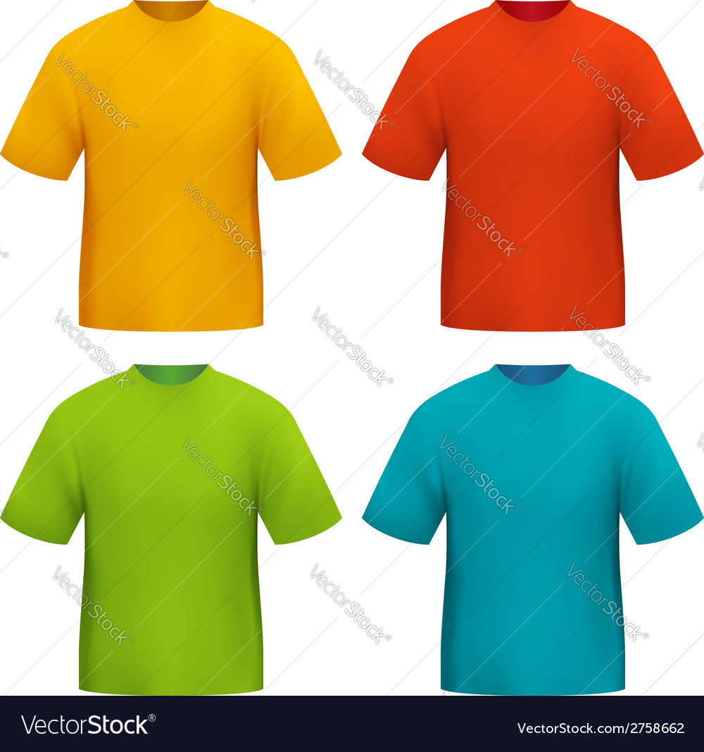 Color tshirt vector | Price: 1 Credit (USD $1)