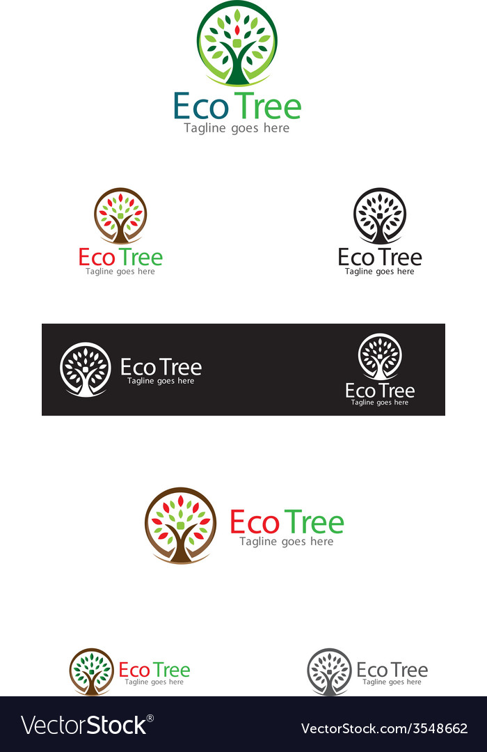 Eco tree logo templates vector | Price: 1 Credit (USD $1)