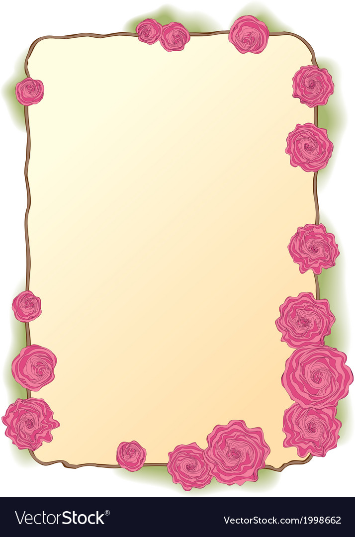 Framing of pink roses vector | Price: 1 Credit (USD $1)