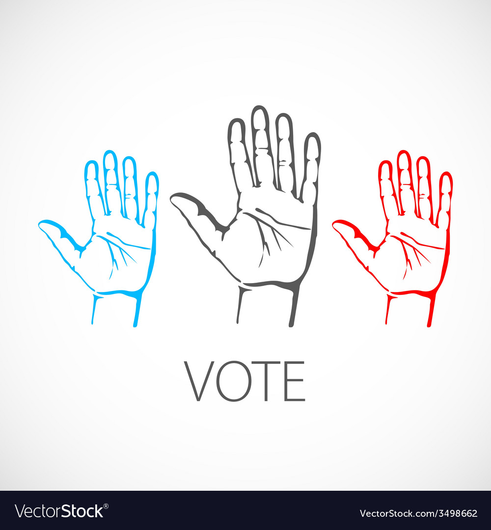 Warm colorful up hands logo vote vector | Price: 1 Credit (USD $1)