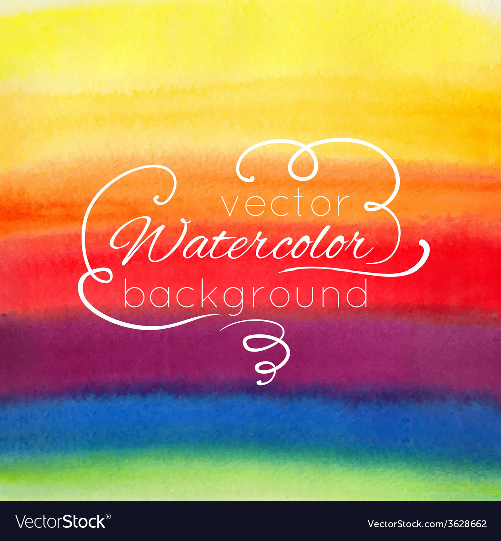 Watercolor abstract colorful background vector | Price: 1 Credit (USD $1)