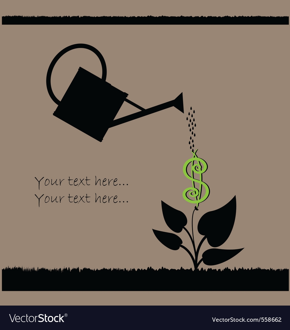 Watering plant vector | Price: 1 Credit (USD $1)