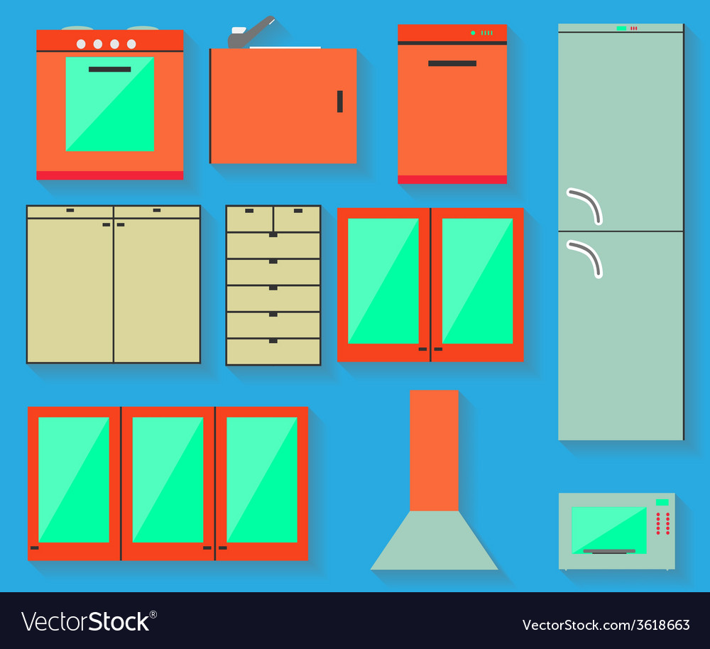 Accessories of kitchen design vector | Price: 1 Credit (USD $1)