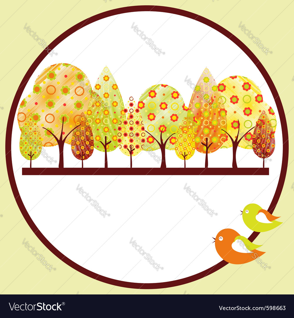 Autumn tree vector | Price:  Credit (USD $)