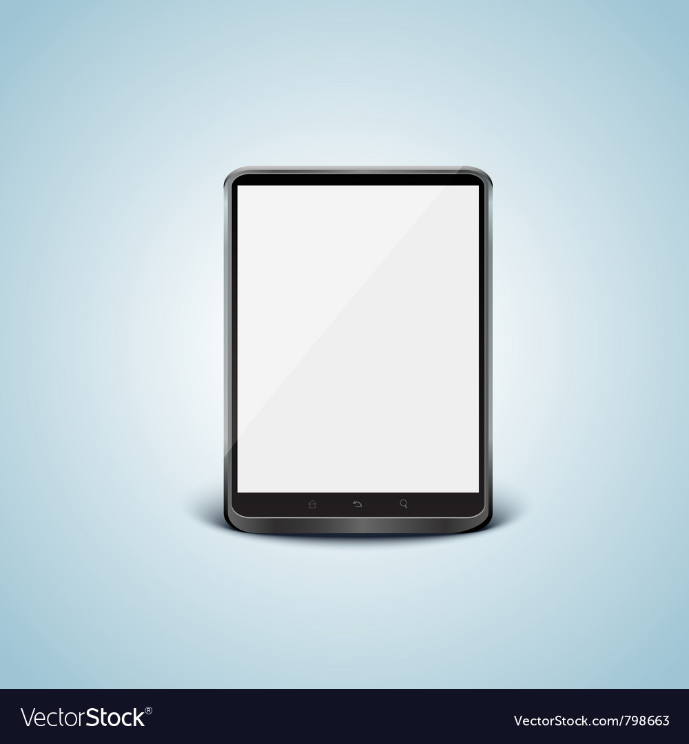 Black tablet pc with white screen vector | Price: 1 Credit (USD $1)