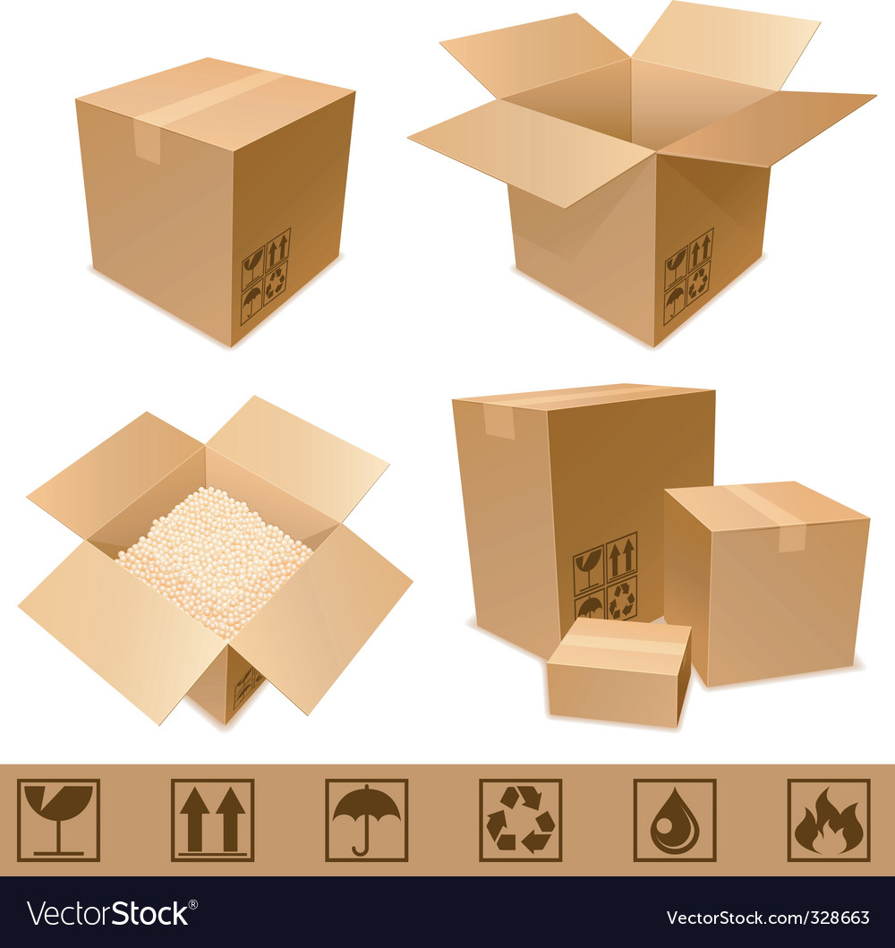Cardboard boxes vector | Price: 3 Credit (USD $3)