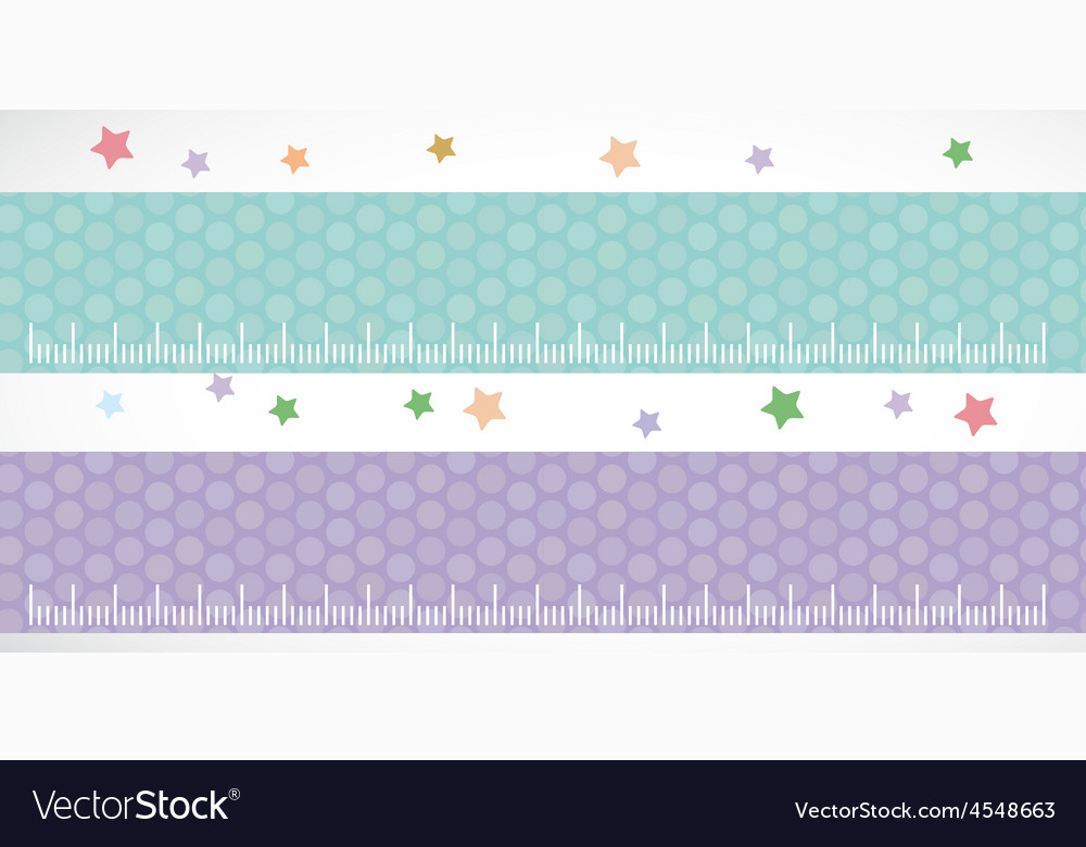 Children height meter wall sticker set lilac blue vector | Price: 1 Credit (USD $1)