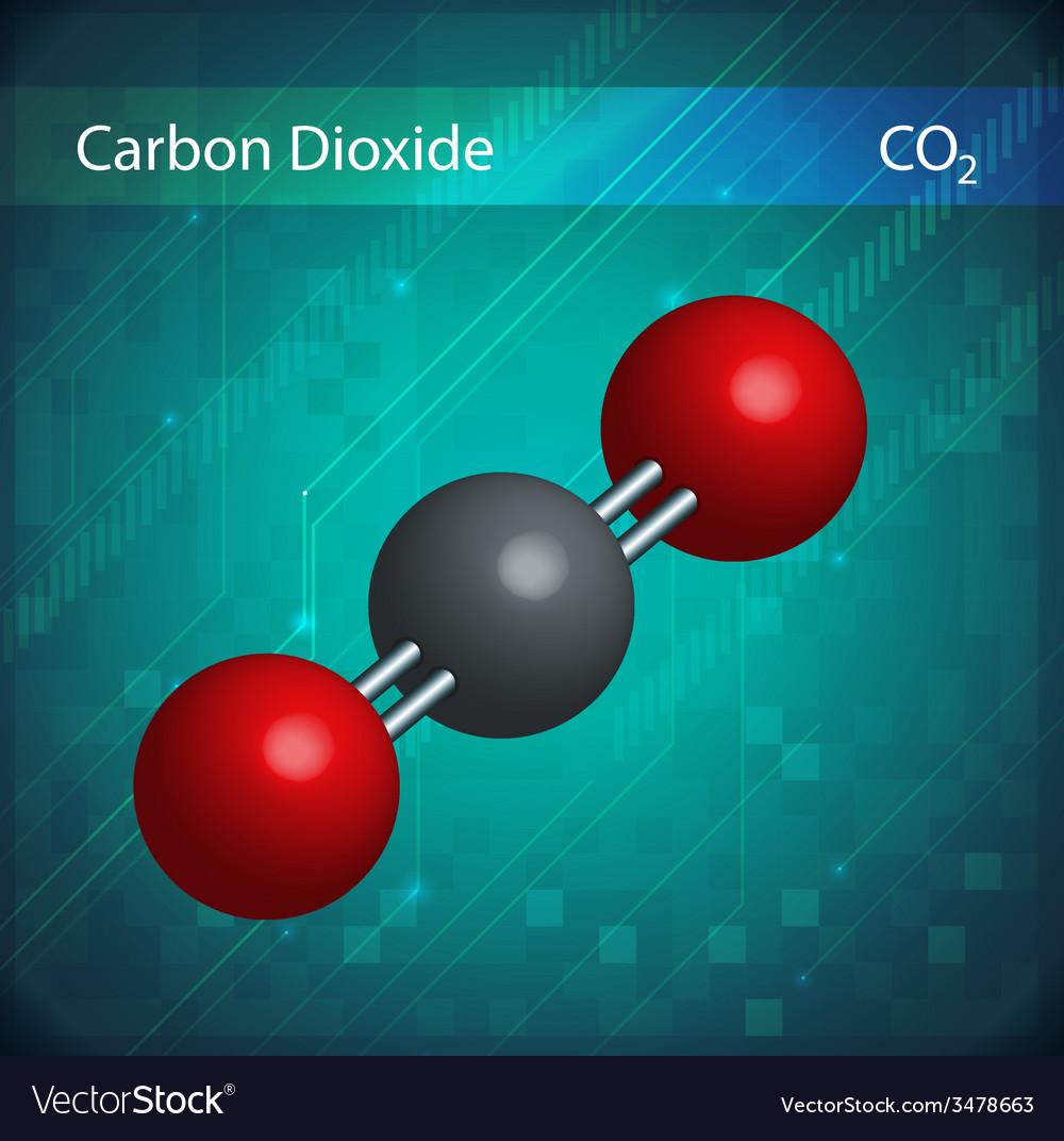 Co2 molecules vector | Price: 1 Credit (USD $1)