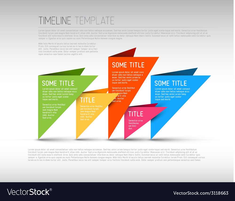 Colorful infographic timeline report template vector | Price: 1 Credit (USD $1)