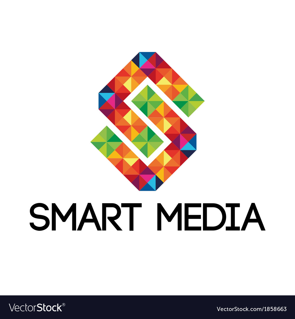 Colorful smart media logo vector | Price: 1 Credit (USD $1)