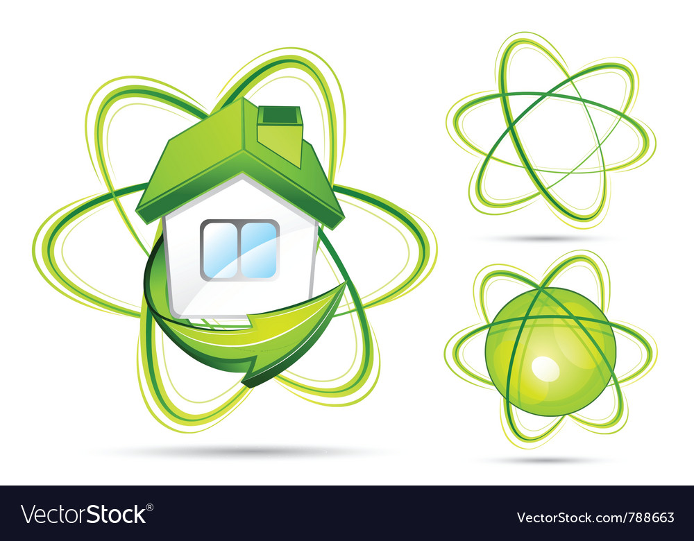 Green atomic s vector | Price: 3 Credit (USD $3)