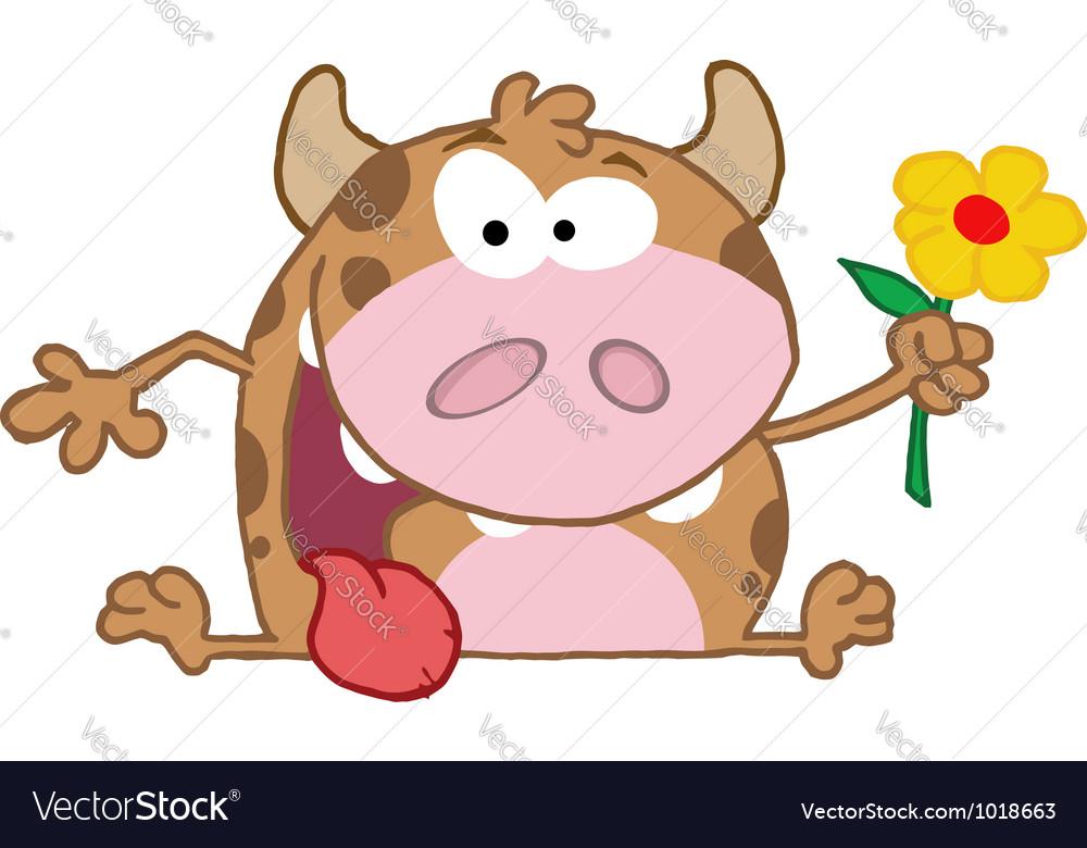 Happy calf vector | Price: 1 Credit (USD $1)