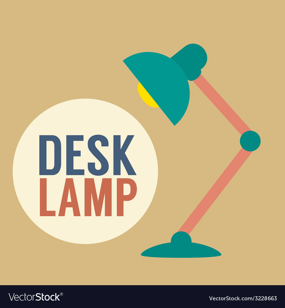 Modern design desk lamp vector | Price: 1 Credit (USD $1)