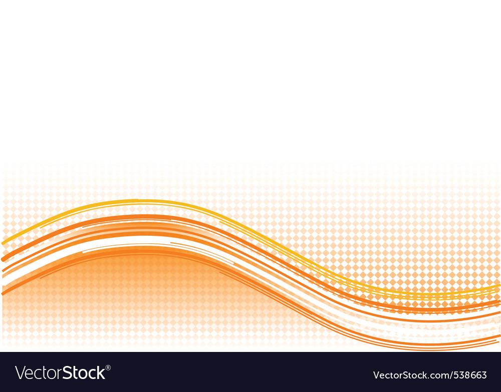 Orange wave background with lines vector | Price: 1 Credit (USD $1)