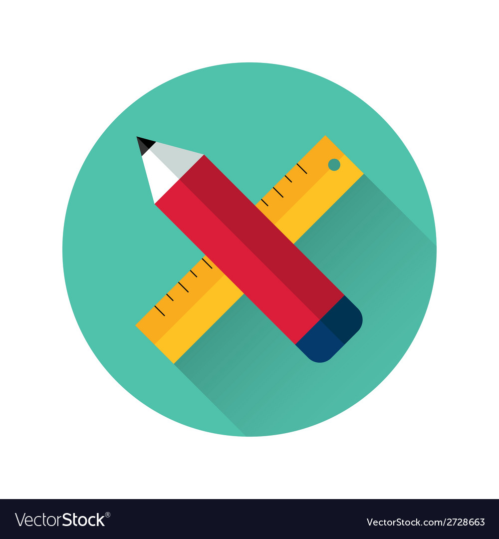 Ruler and pencil icon vector | Price: 1 Credit (USD $1)