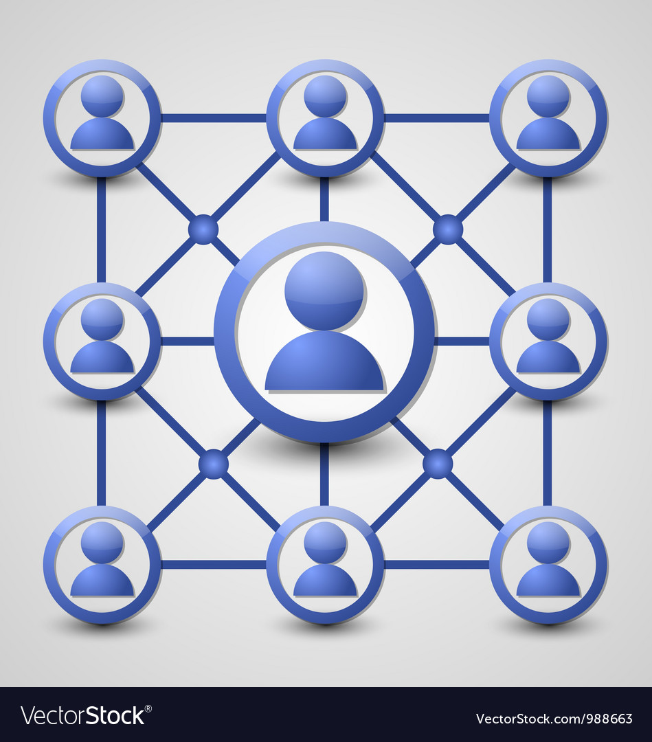 Social network icon vector | Price: 1 Credit (USD $1)