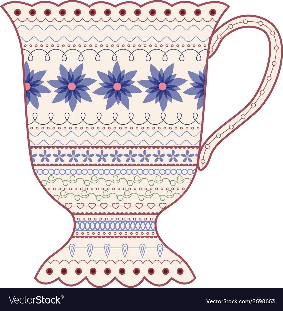 Vintage cup vector | Price: 1 Credit (USD $1)