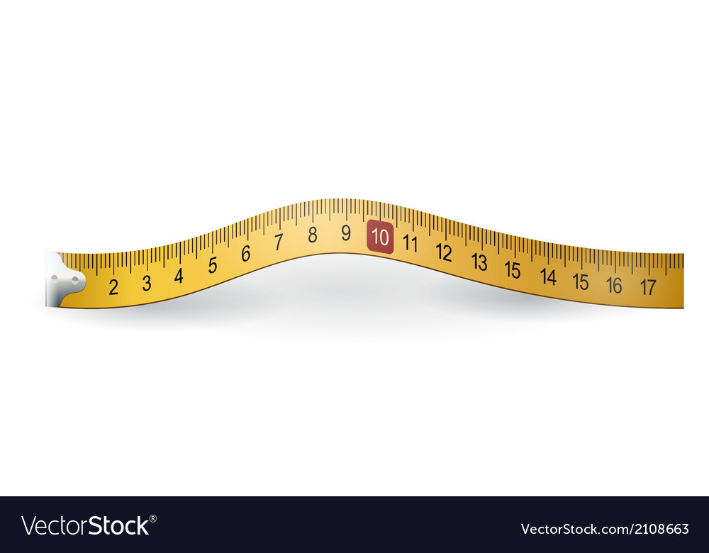 Yellow measuring tape vector | Price: 1 Credit (USD $1)
