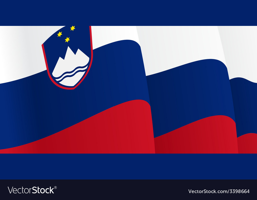 Background with waving slovenian flag vector | Price: 1 Credit (USD $1)