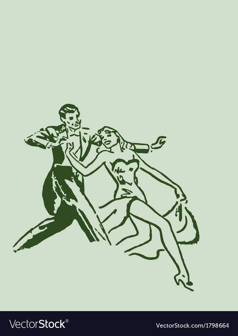 Dancing ballroom dance couple vector | Price: 1 Credit (USD $1)