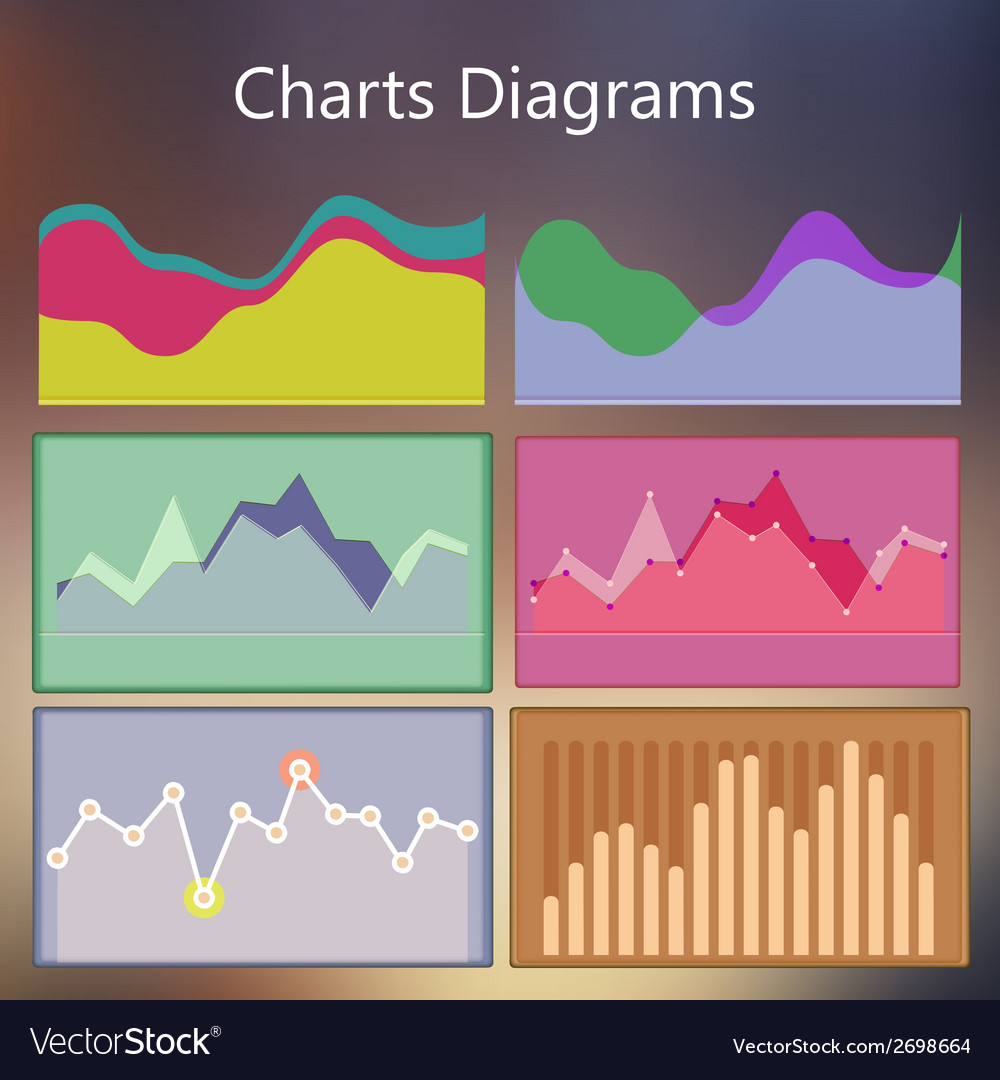Design infographic template with charts diagrams vector | Price: 1 Credit (USD $1)