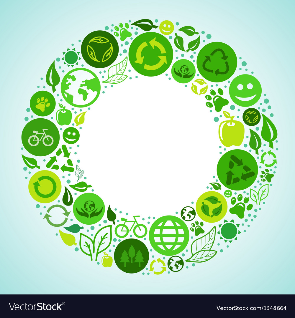 Ecology concept vector | Price: 3 Credit (USD $3)