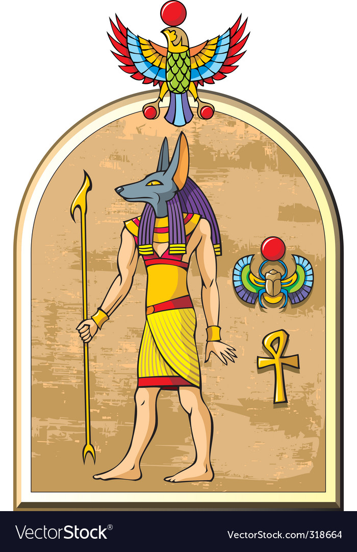 Egyptian god anubis vector | Price: 3 Credit (USD $3)