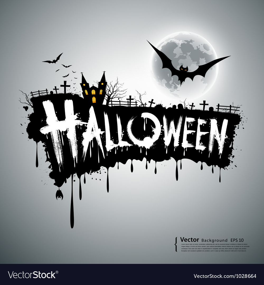 Happy halloween text design vector | Price: 3 Credit (USD $3)