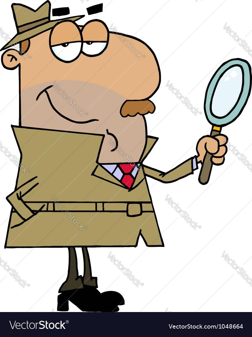 Hispanic cartoon detective man vector | Price: 1 Credit (USD $1)