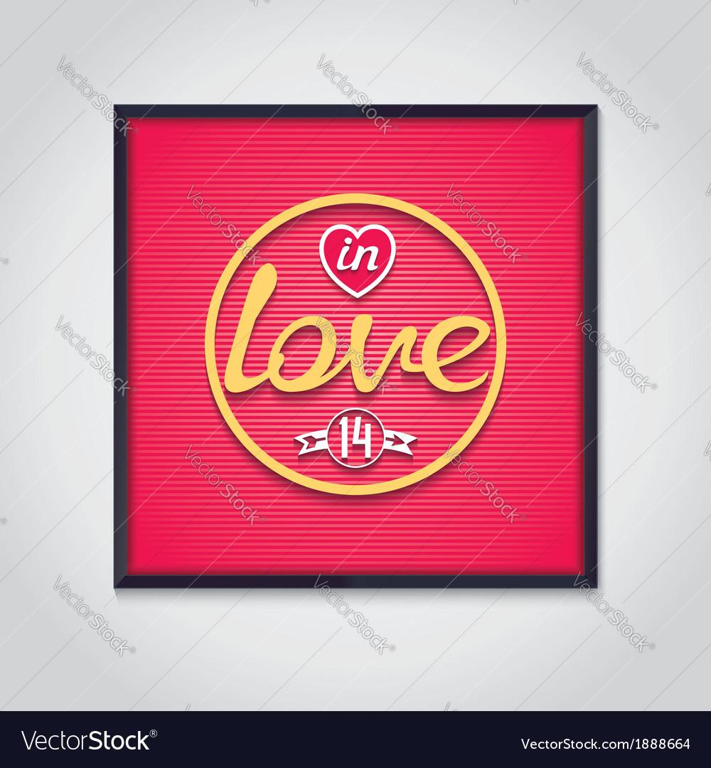 Pop-art neon signboard - in love vector | Price: 1 Credit (USD $1)