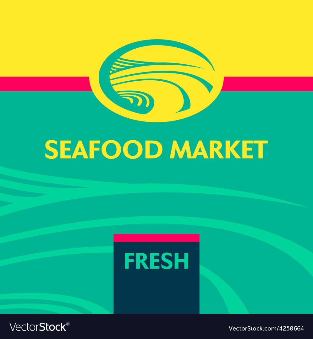 Seafood market vector | Price: 1 Credit (USD $1)