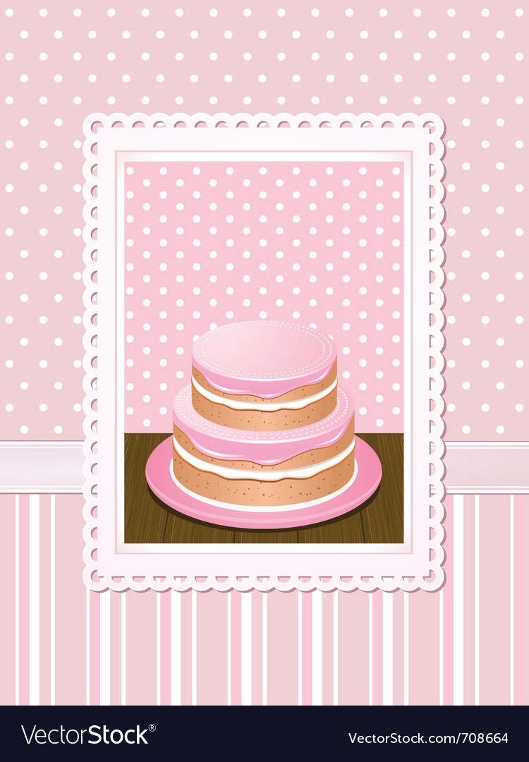 Vintage cake vector | Price: 3 Credit (USD $3)