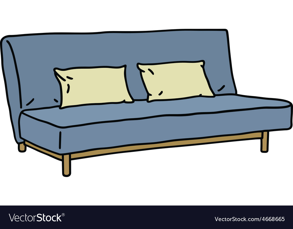 Blue sofa vector | Price: 1 Credit (USD $1)