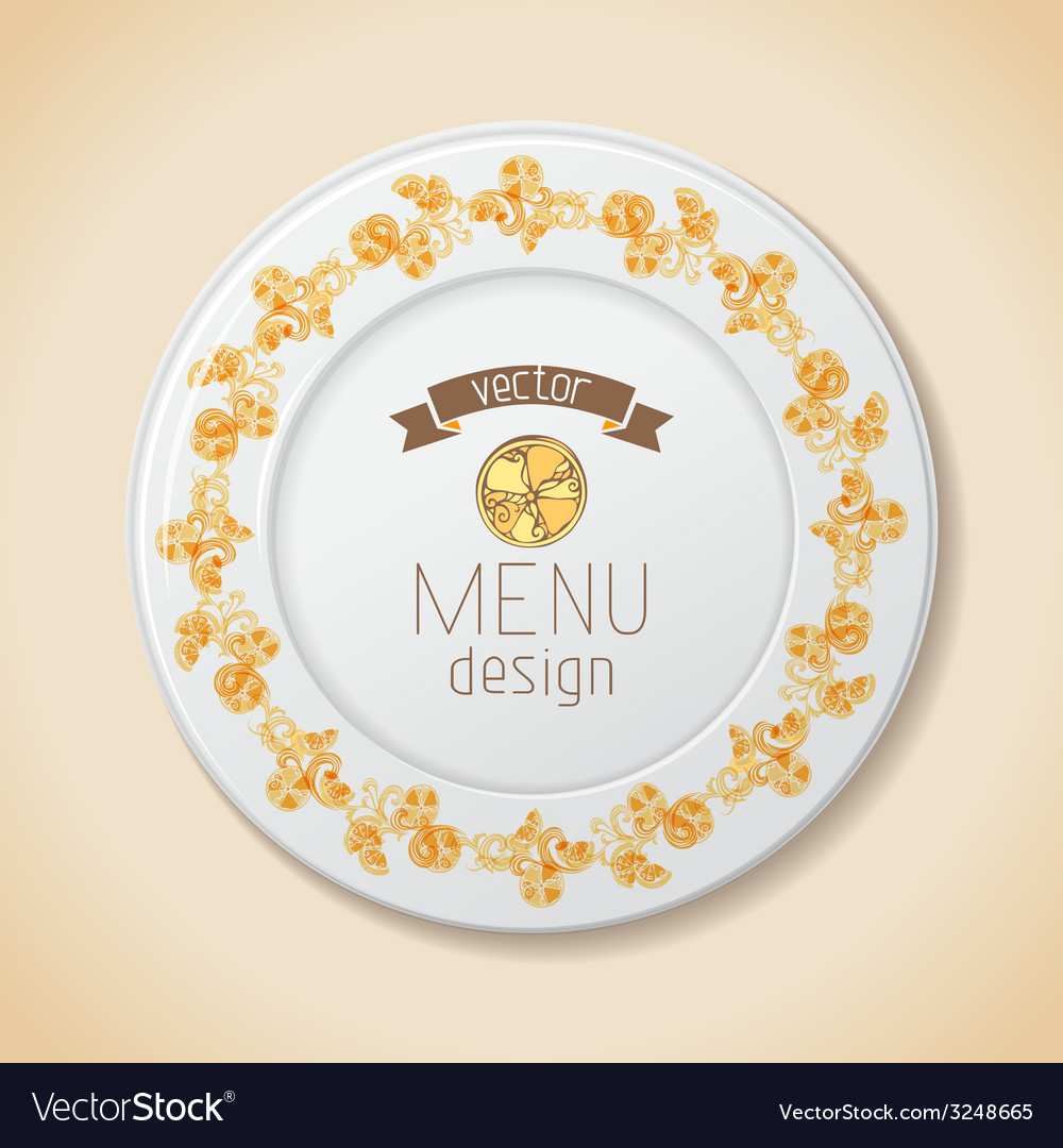 Citrus plate vector | Price: 1 Credit (USD $1)