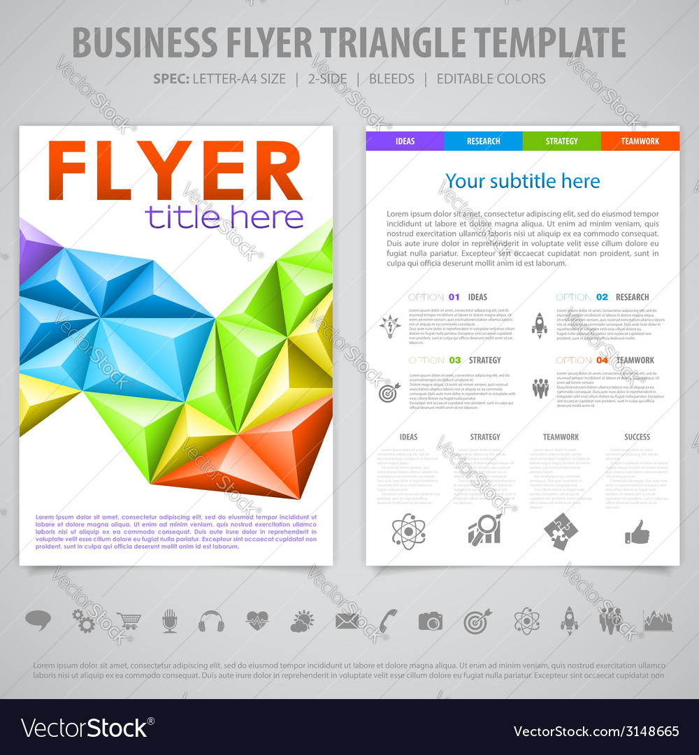 Flyer design template vector | Price: 1 Credit (USD $1)