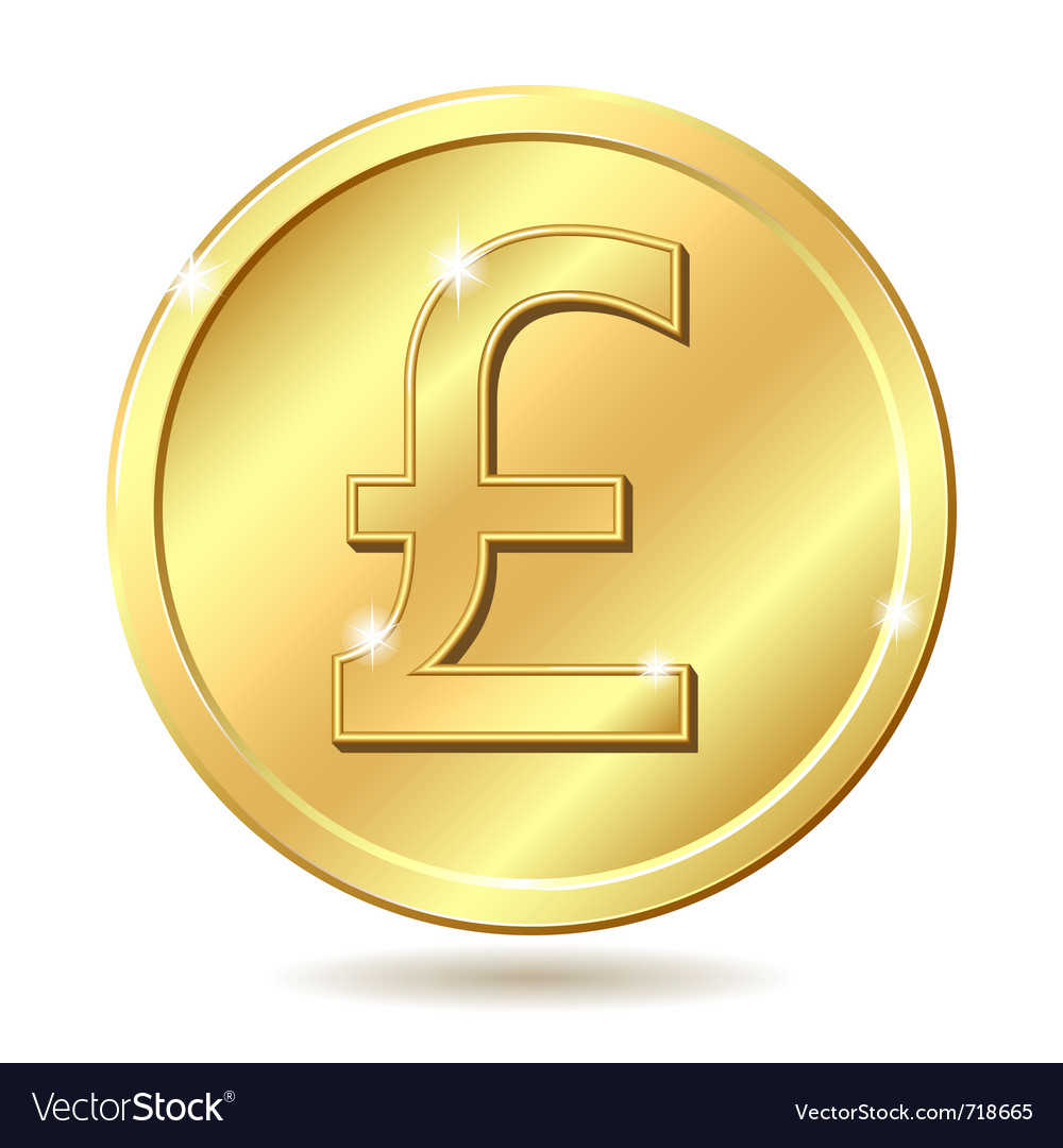 Golden coin pound vector | Price: 1 Credit (USD $1)