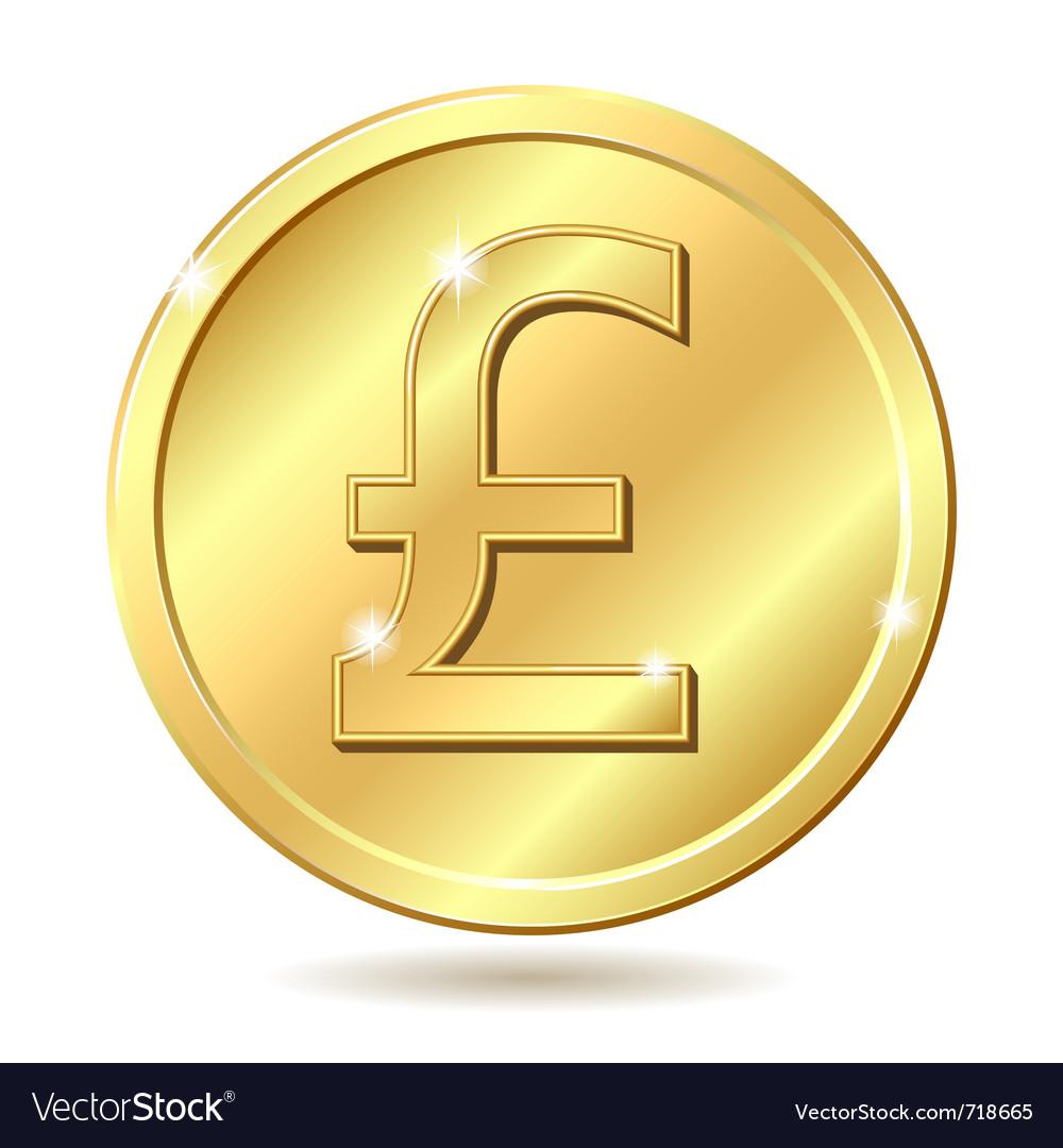 Golden coin pound vector   Price: 1 Credit (USD $1)