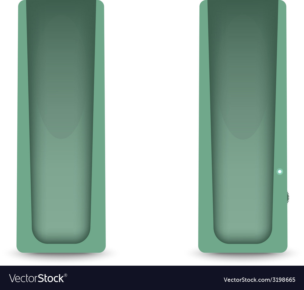 Green computer audio speakers vector | Price: 1 Credit (USD $1)