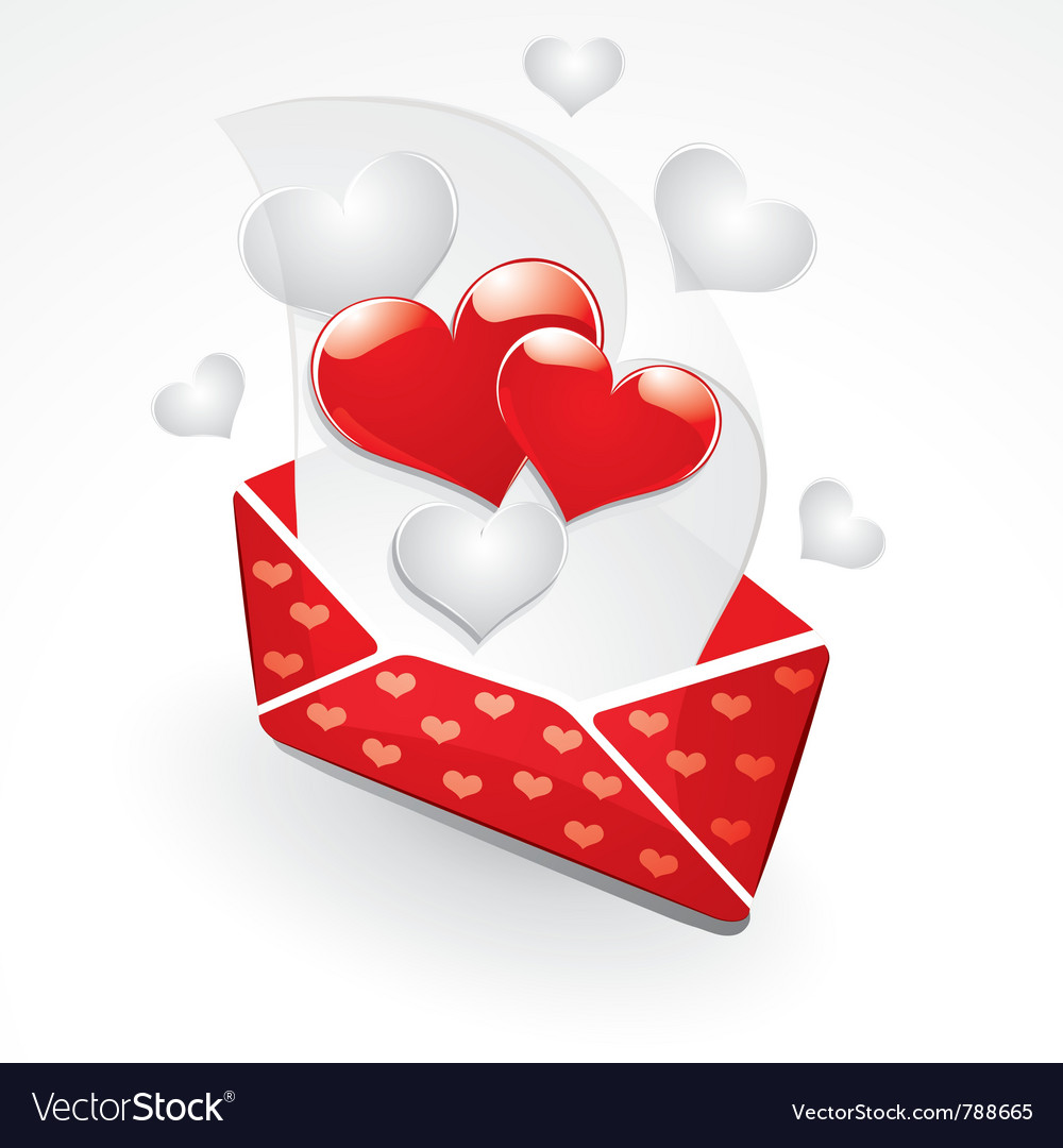 Hearts and love letter vector | Price: 3 Credit (USD $3)