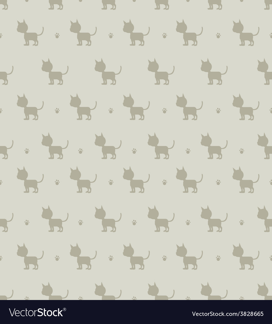 Seamless cats background vector | Price: 1 Credit (USD $1)