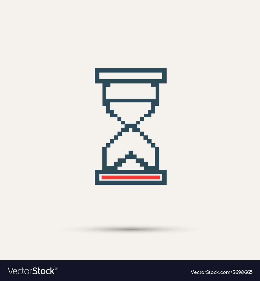 Simple stylish pixel icon hourglass design vector | Price: 1 Credit (USD $1)