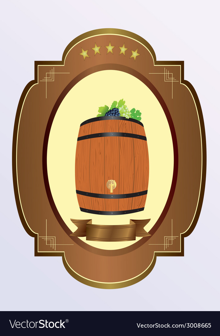 Small cask with wine vector | Price: 1 Credit (USD $1)
