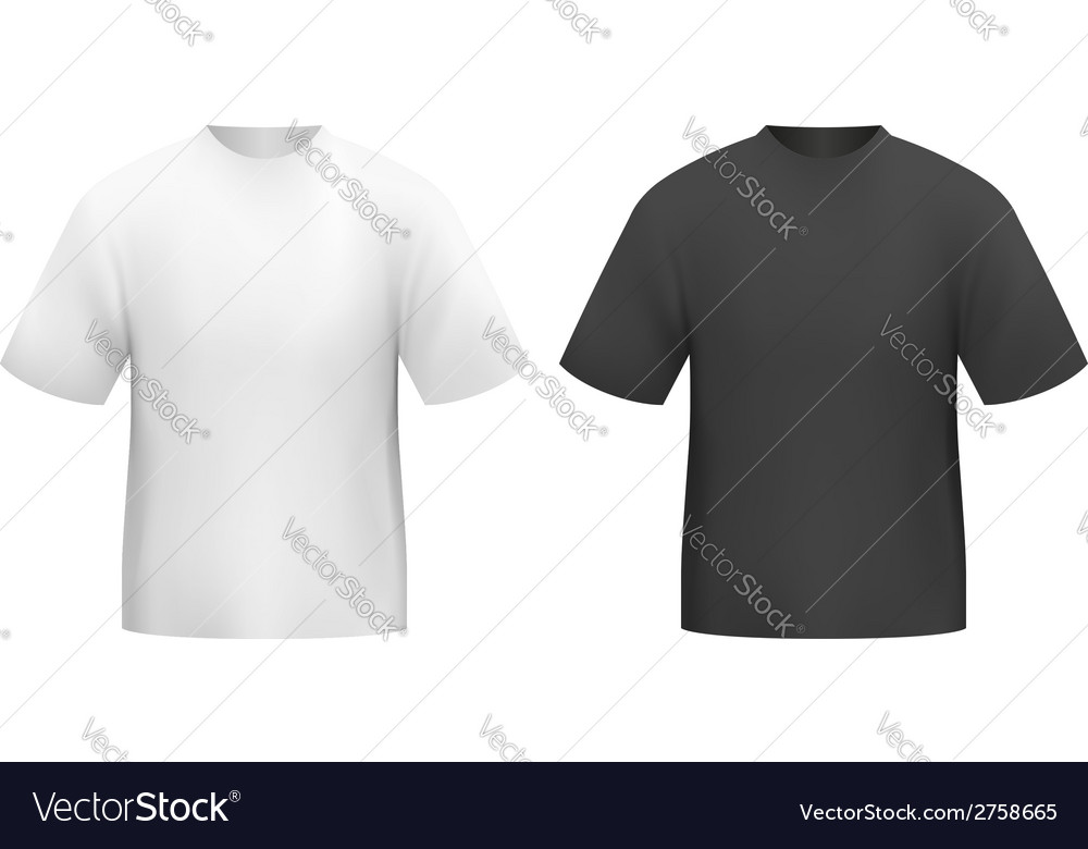 Tshirt black and white vector