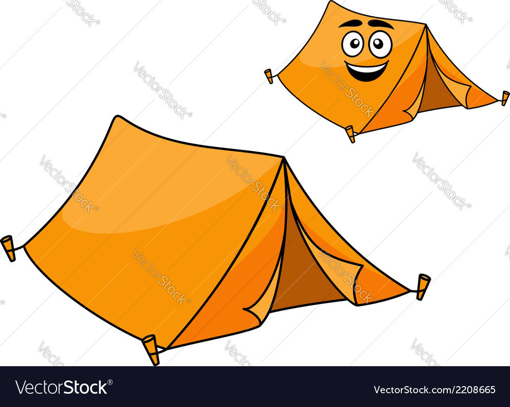 Two colorful orange tents vector | Price: 1 Credit (USD $1)