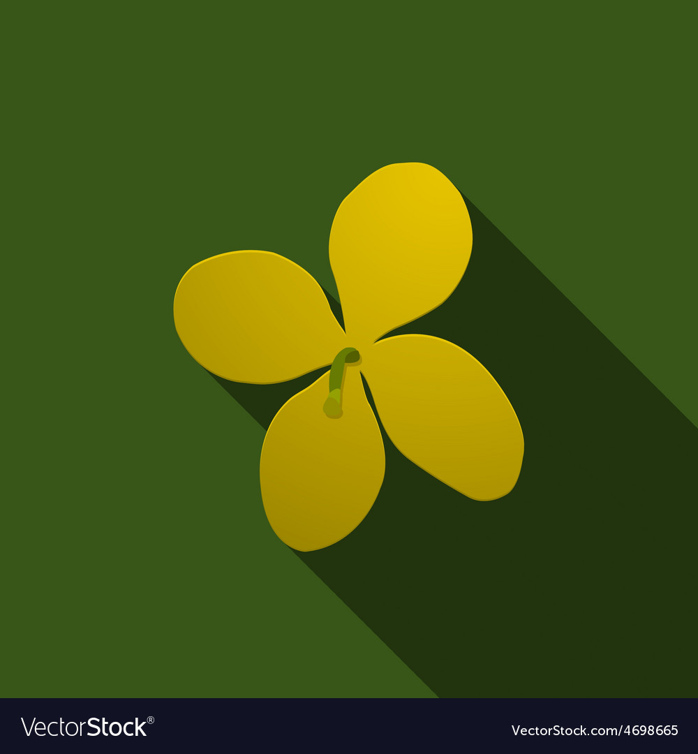Yellow celandine on a green background vector | Price: 1 Credit (USD $1)