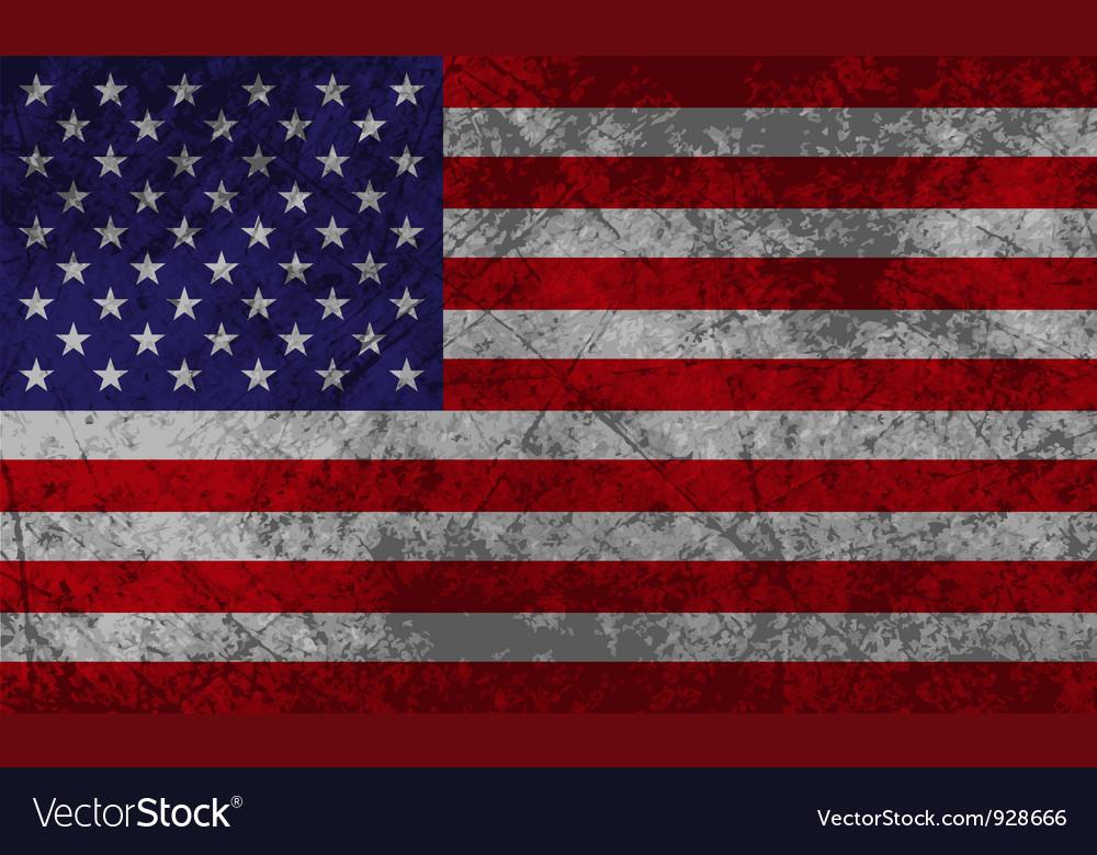 American flag grunge vector   Price: 1 Credit (USD $1)