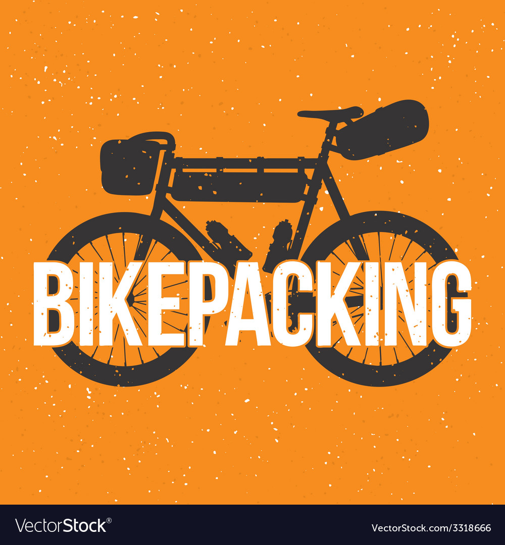 Bikepacking vector | Price: 1 Credit (USD $1)