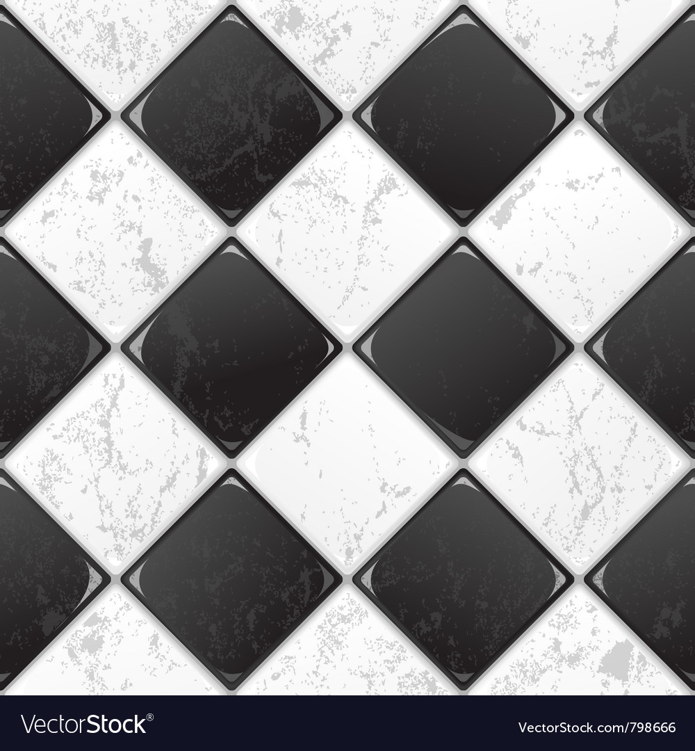 Black and white tile vector | Price: 1 Credit (USD $1)