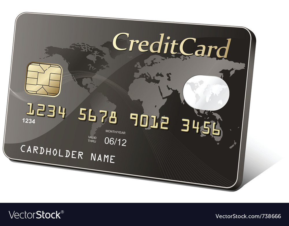 Gold credit card vector | Price: 3 Credit (USD $3)