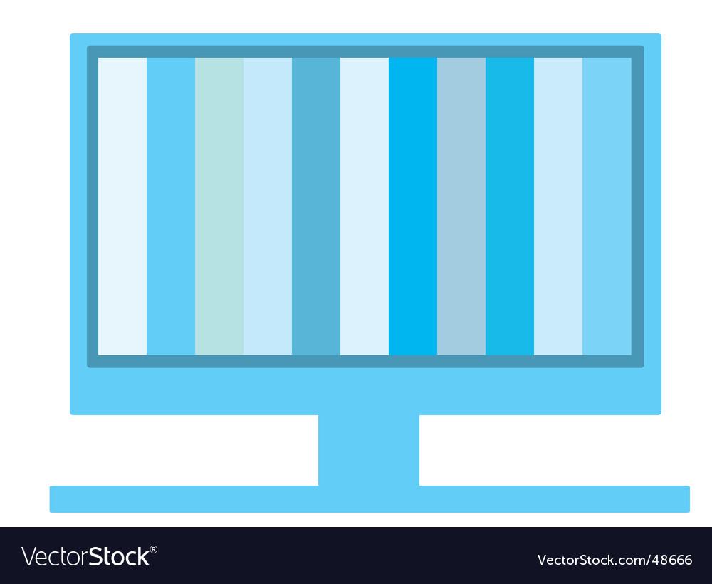 Modern display icon vector | Price: 1 Credit (USD $1)